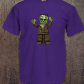 Camiseta Halloween chico morado