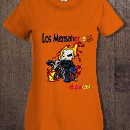 camiseta ghost rider chica